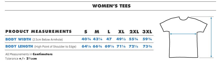 Female Shirt Sizes